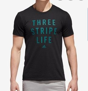 Adidas NWT Mens 3 Stripe Life Tee